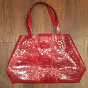 Handbags - AWESOME LARGE RED LEATHER BAG!
